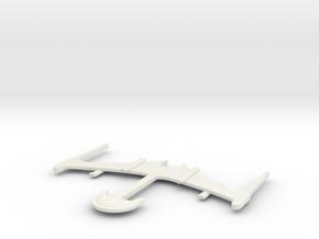 Klingon Vong'Lop in White Natural Versatile Plastic