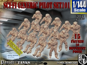 1/144 Sci-Fi Generic Pilot Set101 in Smooth Fine Detail Plastic