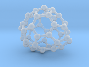 0653 Fullerene c44-25 c1 in Smooth Fine Detail Plastic