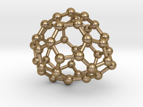 0653 Fullerene c44-25 c1 in Polished Gold Steel