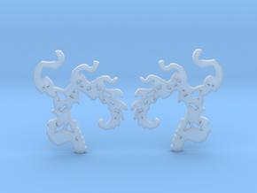 Phoenix Fractal earrings in Smooth Fine Detail Plastic