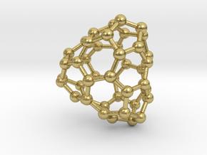 0663 Fullerene c44-35 d3 in Natural Brass