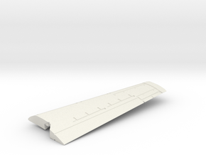 Grumman-E-1B-144Scale-09B-Wing-Right-Up in White Natural Versatile Plastic