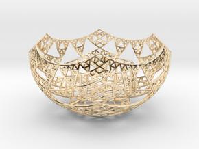 Fractal Tealight Holder in 14k Gold Plated Brass