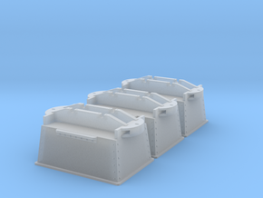 Atlas mine tubs 3x in Smooth Fine Detail Plastic: 1:45