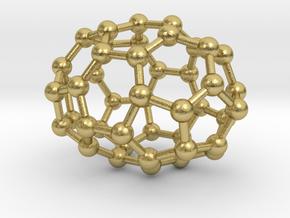 0665 Fullerene c44-37 d3h in Natural Brass