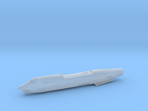 F8-144scale-03-Airframe-WithLauncherHoles in Smooth Fine Detail Plastic
