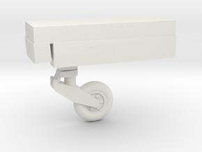 F8-144scale-15-NoseGear in White Natural Versatile Plastic