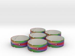 Sundial Bangles 39N (x4), 51N (x2) in Natural Full Color Sandstone