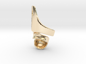 DTKAFO charm in 14k Gold Plated Brass