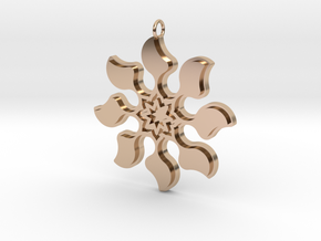 Bloom Pendant in 14k Rose Gold Plated Brass