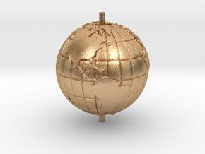 "World 1.25"" (Globe) in Natural Bronze"