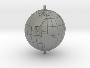 "World 1.25"" (Globe) in Gray PA12"