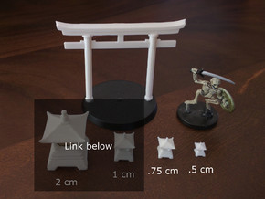 Japanese Pagoda/Lantern figure (filled, S/XS) in Smooth Fine Detail Plastic: Small