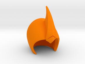Helmet 7c in Orange Processed Versatile Plastic