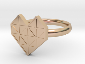 HEART 1 in 14k Rose Gold Plated Brass: 1.5 / 40.5