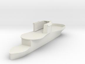 1/72 DKM U-Boot U-441 Conning Tower in White Natural Versatile Plastic