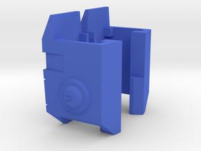 TR: Blitz Shoulder add-on in Blue Processed Versatile Plastic