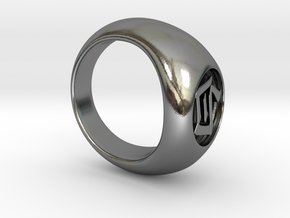 Akatsuki Ring - Konan / White in Polished Silver: 6 / 51.5