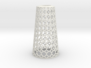 Lampshade_Cone_honey in White Natural Versatile Plastic