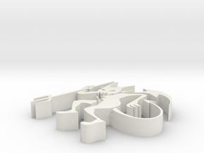 3d Demon in White Premium Versatile Plastic