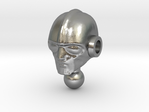 Biotron Head for Time Traveler in Natural Silver