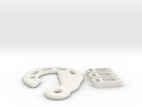 Plant Hanger Hooks (separated) in White Natural Versatile Plastic