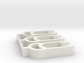 Plant Hanger Hook Tabs (linked) in White Natural Versatile Plastic
