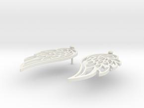 Wing earrings in White Natural Versatile Plastic
