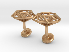 Cufflinks Octagonal in Polished Bronze