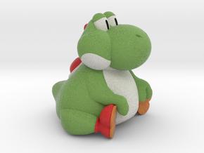 Fat Yoshi (Super Mario RPG) in Natural Full Color Sandstone: Small