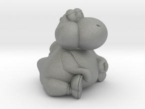 Fat Yoshi (Super Mario RPG) in Gray Professional Plastic: Small