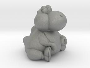 Fat Yoshi (Super Mario RPG) in Gray Professional Plastic: Small