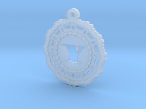 Magic Letter Y Pendant in Smooth Fine Detail Plastic
