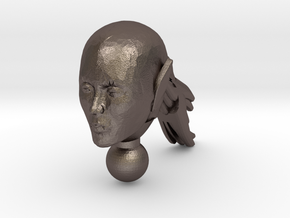 Pony Girl Head  in Polished Bronzed-Silver Steel