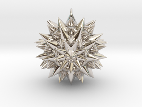 Spiked Pendant in Rhodium Plated Brass