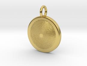 Heart of the Sun pendant in 14k White Gold: Medium