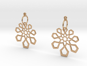 Arabesque Earrings in Polished Bronze (Interlocking Parts)
