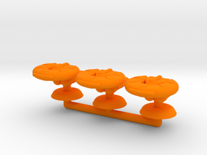 Gamma Generic Small Warship Squadron in Orange Processed Versatile Plastic