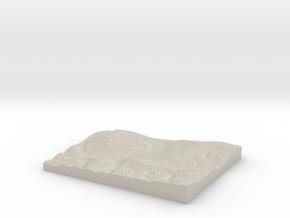 Model of Glade Run School in Natural Sandstone