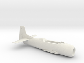 T-28B-144scale-01-InFlight-AirFrame in White Natural Versatile Plastic