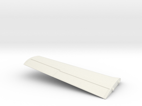T-28B-144scale-02-InFlight-Wing-Left in White Natural Versatile Plastic