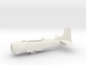 T-28B-144scale-06-OnTheDeck-AirFrame in White Natural Versatile Plastic
