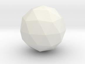 Icosphere in White Natural Versatile Plastic