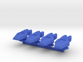 Lambda Generic Medium Warship Squadron in Blue Processed Versatile Plastic