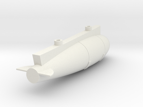 021G 600L Ventral Tank Super Etendard 1/72 in White Natural Versatile Plastic