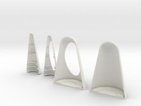 Peanut Display Shells in White Natural Versatile Plastic