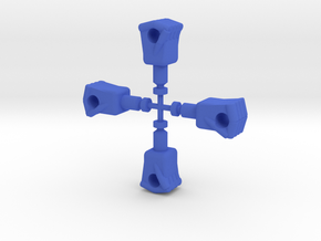 Red Falcon Fists in Blue Processed Versatile Plastic