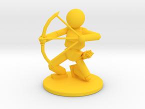 Prototype: Female Bow  in Yellow Processed Versatile Plastic
