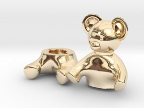 Small Teddy bear Box in 14K Yellow Gold